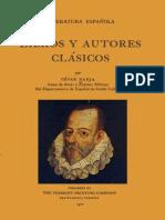 Literatura española. Libros y autores clásicos