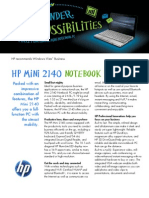 HP Mini 2140 Datasheet