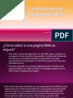 Cofiabilidad de Paginas Web