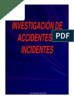 Investigación de accidentes e incidentes en el trabajo