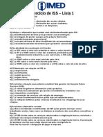 Lista de Exercicios de ISS-IMED