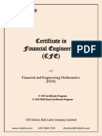 Certificate in Financial Engineering (CFE) - Brochure (4.2)