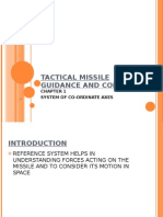 Coordinate System for Tactical Missiles