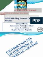 Contribucion Del Sector Minero Al Desarrollo Nacional
