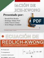Ecuación de RedLich-Kwong