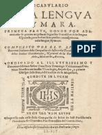 Aymara Vocabulario 1612