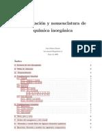 Formulación y nomenclatura química