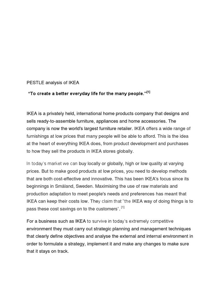 ikea pestle china Ikea's international expansion swot, pestle, mckinsey matrix) russia, china and india (bloomberg, 2011) ikea is world.