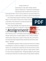 Romantic and Ideal Love/ Essay / Paper by AssignmentLab.com