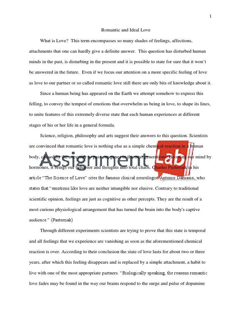 Essay paper on love