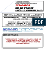 REZAGADOS FIRMA PAGARÉ  SEGUNDO SEMESTRE ÚLTIMO PLAZO 27 11 2013