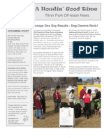 May09 Off Leash News