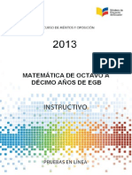 Instructivo Matematica 8a10 EGB 2013.Pdfmagisterio 2013