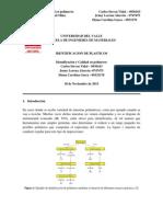 Informe Laboratorio 1 Identificación y calidad en polimeros -Alarcón, Gasca, Vidal