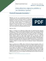 Imaginarios urbanos, espacio público y ciudad en América Latina