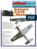 [Model CardBoard 2003-03][Airplane] P-51B Mustang [1x50][4xA4]