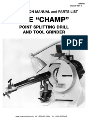 Champ Drill Grinder Instructions