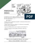 Soutien Aux Chauffeurs Et Au Personnel Solea