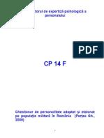 Caiet CP14 F