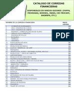 Catalogo de Corridas Financieras 2013 Actualizado