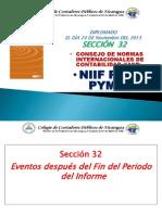 NIIF HECHOS OCURRIDOS
