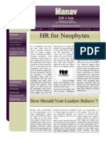 HR Club Newsletter
