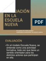 Expo - Evaluacion Escuela Nueva