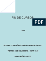CULMINACIÓN CURSOS 2013