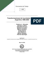 Schuster y Otros (2006) - Transformaciones de La Protesta Social en Argentina 1989-2003