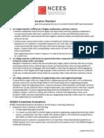 Credentials Evaluations Credential Evaluation Standard March 2012