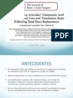 JBJS-Utilización tópica de ácido tranexámico