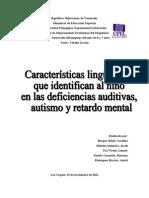caracteristicas linguisticas de niños con autismo retardo mental