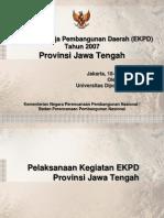 Presentasi Seminar AKhir EKPD 2007