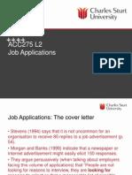 Job application presentation