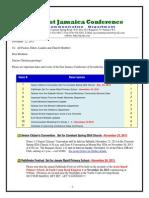 Communication Advisory for November 23-2013