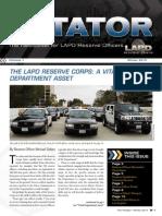 LAPD Reserve Rotator Newsletter Winter 2010