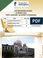 MPW2133 Malaysian Studies Judiciary