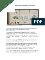 Brasileiros Tentam Decifrar Misterioso Manuscrito Voynich