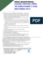 1er SIMULACRO VIRTUAL PARA EXAMEN DE DIRECTORES Y SUB DIRECTORES 2013.docx