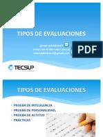 Tipos de Evaluaciones[1]