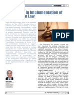 Role of CA in Implementation of Competition Law