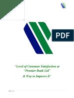 Customer Satisfaction Level Pb