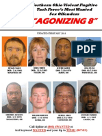 Northern Ohio Agonizing 8 Most Wanted Sex Offenders