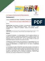 LUIS MORA CONFERENCIA 2 Criterios Efectivos de Mejorar La Mantenibilidad y La Confiabilidad