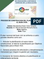 Proceso de Construccion Del Plan Nacional Para El Buen Vivir