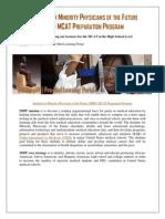 Institute for Minority Physicians of the Future (IMPF) MCAT Preparation Program w Syllabi