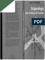Butzer 1989 Arqueología una ecología del hombre