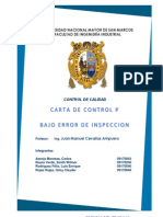 Grafica de control p bajo error de inspección