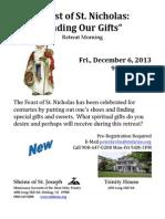 Dec 2013 St. Nicholas Morning Retreat Flyer