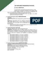 Listado de Funciones Financieras en Excel